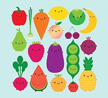 5 A Day Fruit & Vegetables by Marceline Smith