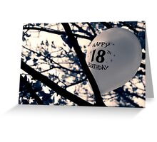 18 Birthday Card Greeting Card