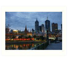 Melbourne Twilight Art Print
