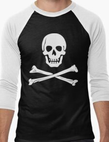 Skull & Crossbones Men's Baseball ¾ T-Shirt