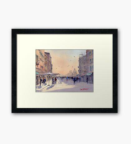 Venice from Via Garibaldi Framed Print
