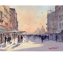 Venice from Via Garibaldi Photographic Print