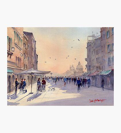 Venice from Via Garibaldi Photographic Print