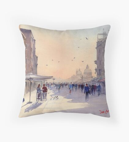 Venice from Via Garibaldi Throw Pillow
