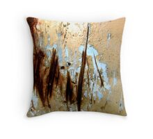 Misty Morning by the Lake Throw Pillow