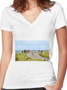 Hiking the Brecon Beacons Women's Fitted V-Neck T-Shirt