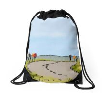 Hiking the Brecon Beacons Drawstring Bag
