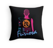 Drive Furiously Throw Pillow