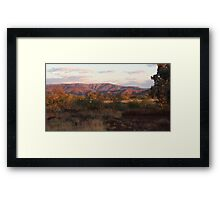 Dusky Mountains - Auski Roadhouse, Western Australia Framed Print