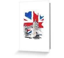 British Union Jack Flag - Tower Bridge, London Greeting Card