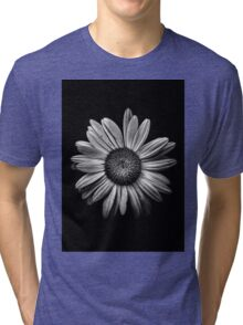 Backyard Flowers In Black And White 13 Tri-blend T-Shirt