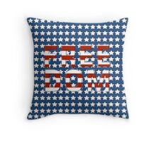 Freedom - Stars and Stripes Throw Pillow