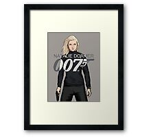 Natalie Dormer is Bond - Coloured Edition Framed Print