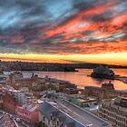 Sydney Shangri-La Sunrise II by Richard  Cubitt
