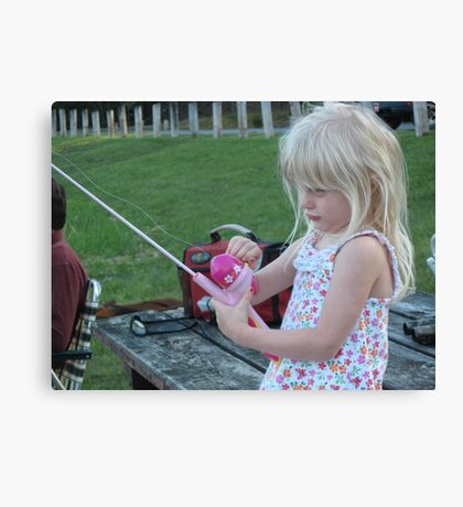 First Time Fishing Canvas Print