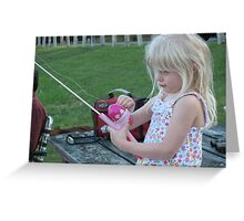 First Time Fishing Greeting Card