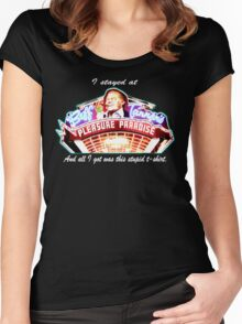 Biff Tannen's Pleasure Paradise t-shirt Women's Fitted Scoop T-Shirt