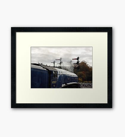 Waiting for the Off. Framed Print