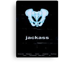 Minimalist Jackass Movie Poster Canvas Print