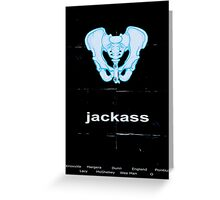 Minimalist Jackass Movie Poster Greeting Card