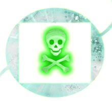 Shimmering green Sticker