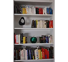 Bookcase - Colour Sorted Books Photographic Print