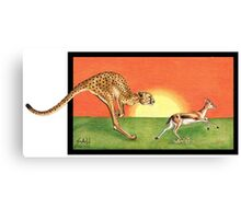 Cheetahroo on the Hunt Canvas Print