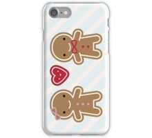 Cookie Cute Gingerbread Couple iPhone Case/Skin