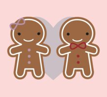 Cookie Cute Gingerbread Couple One Piece - Short Sleeve