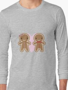 Cookie Cute Gingerbread Couple Long Sleeve T-Shirt