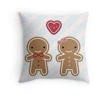 Cookie Cute Gingerbread Couple Throw Pillow