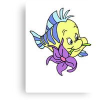 Flounder with a Flower Canvas Print