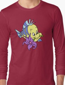 Flounder with a Flower Long Sleeve T-Shirt