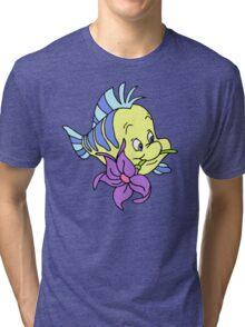 Flounder with a Flower Tri-blend T-Shirt
