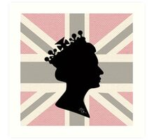 GOD SAVE THE QUEEN! (PINK) Art Print