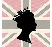 GOD SAVE THE QUEEN! (PINK) Photographic Print