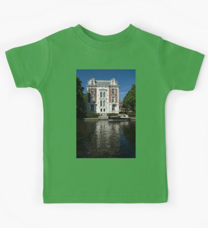 Amsterdam Canal Mansions - Bright White Symmetry  Kids Tee