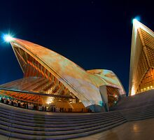 Opera House lit for Vivid Sydney 2010 by Erik Schlogl