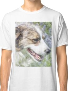Dog in Bluebells Classic T-Shirt