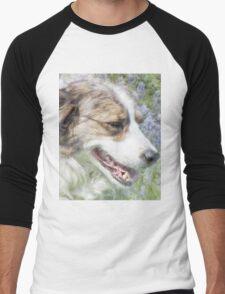 Dog in Bluebells Men's Baseball ¾ T-Shirt