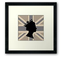 GOD SAVE THE QUEEN! (GREY) Framed Print