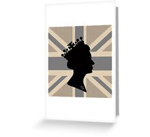 GOD SAVE THE QUEEN! (GREY) Greeting Card