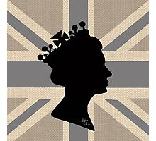 GOD SAVE THE QUEEN! (GREY) Photographic Print