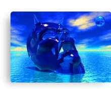 BLUE DEVIL Canvas Print