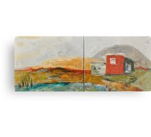 Red House on the Lake Metal Print