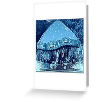 Moonlight Ride Of The Wild Carousel Horses Greeting Card