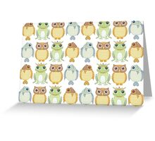 Owls Fish Frogs  Greeting Card