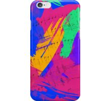 Wild Paint Brush Colors and Music Sheets iPhone Case/Skin
