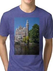 Amsterdam Canal Mansions - the Dainty Tower Tri-blend T-Shirt