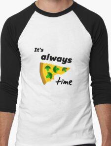 It's Always Pizza Time (Broccoli)  Men's Baseball ¾ T-Shirt